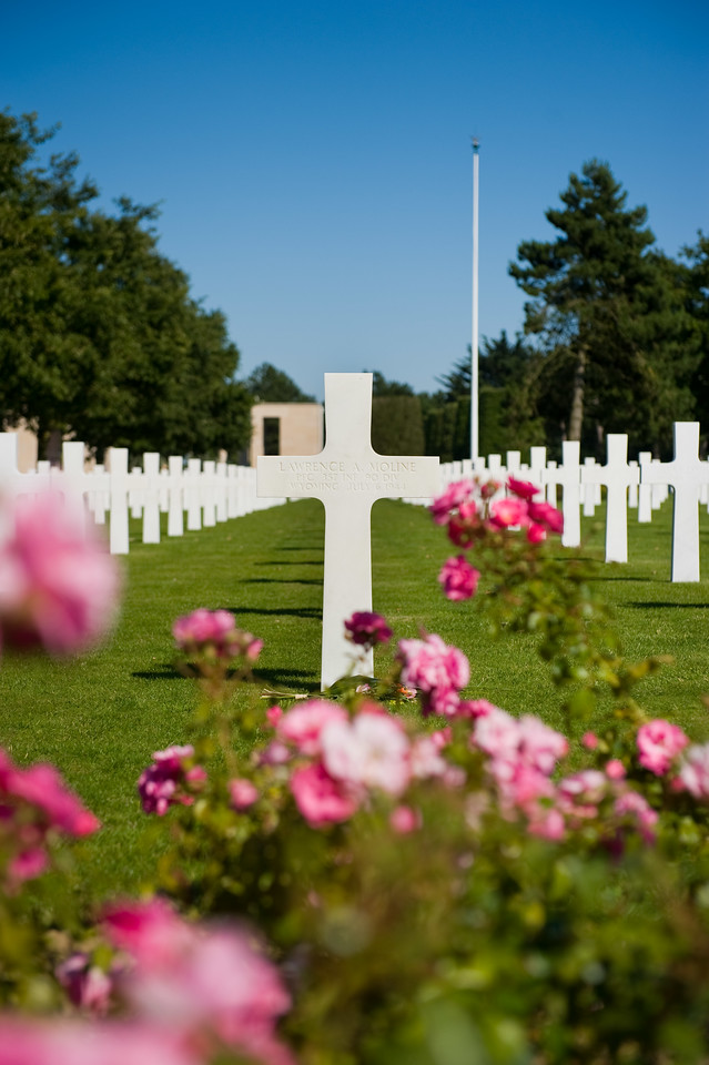 The American Military Cemetery in Normandy