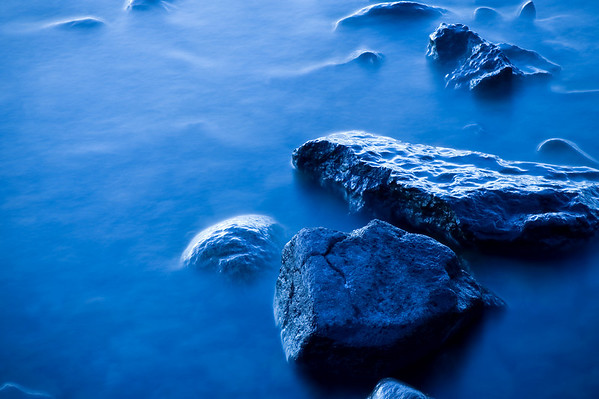 Lake Tahoe rocks by Garwoods Pier during sunrise