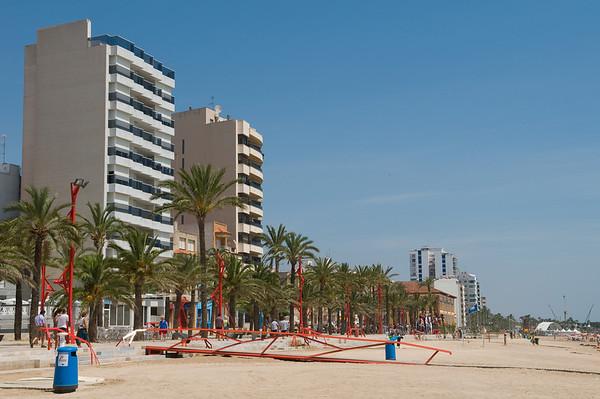The beach along Vinaros
