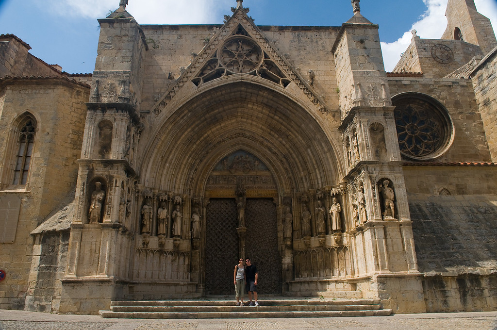 We visited the church of Santa Maria la Mayor in the village of Morella, Spain. old medieval architecture.
