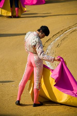 The matadors preparing for their bullfight