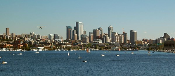 Downtown Seattle across Lake Union
