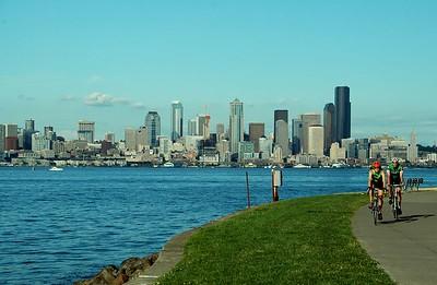 Downtown Seattle - Alki Beach view