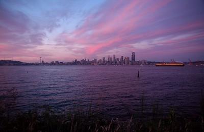 Alki Beach view of Seattle