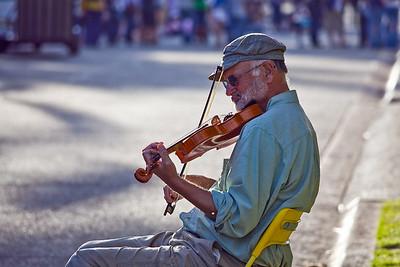 A Musician at Balbor Park