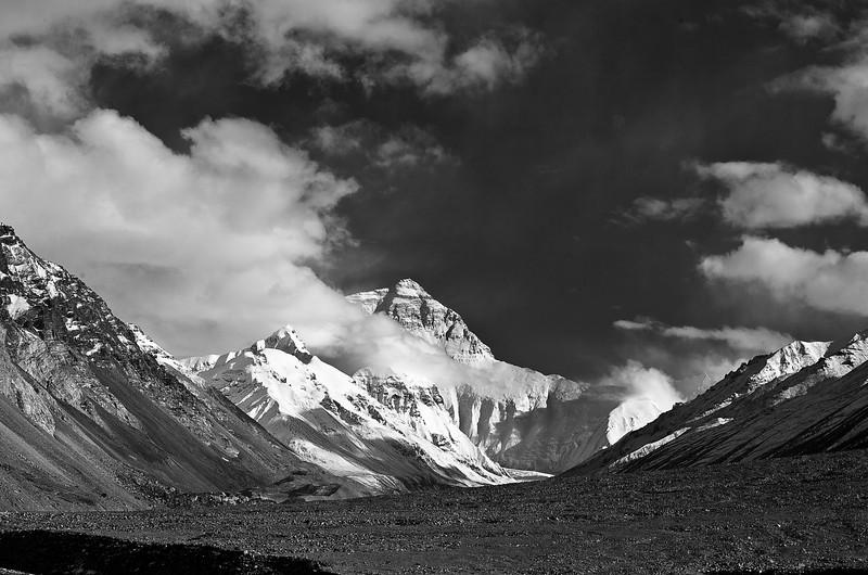 At base camp of Mt. Everest