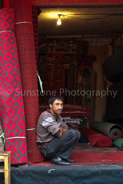Carpet Vendor in Urumqi