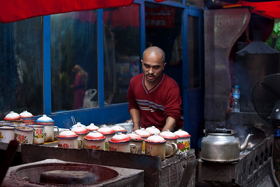 A Steet Vendor at Urumqi