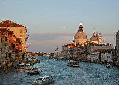 Moon over Venice Grand Canal