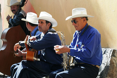 Street musicians in Ensenada, Mexico