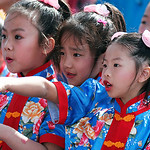 Girls in Chnese New Year Celebration in San Diego, California