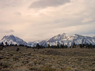 Sherwin Range, south of Mammoth Lakes, just south of Long Valley, Hot Creek