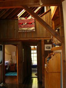 Looking towards bedroom, bath, Juniper House, Bolinas