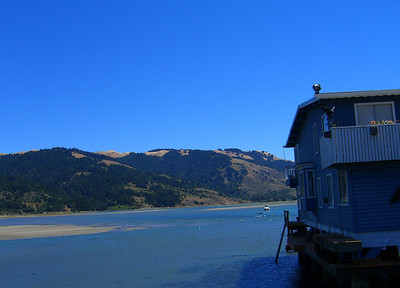 Bolinas lagoon, looking east to Mt. Tamalpais State Park