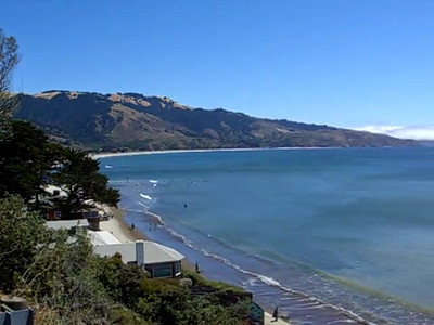 Bolinas beach looking south to Stinson Beach