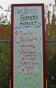 Point Reyes Station has the only all organic farmer's market in Marin County, every Saturday, 9am-1pm. www.marinorganic.org