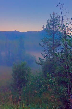 Misty Mountain Evening