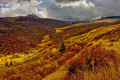 La Sal Mountains in October