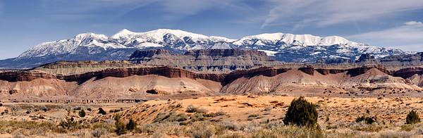 Tarantula Mesa and the Henry Mountains