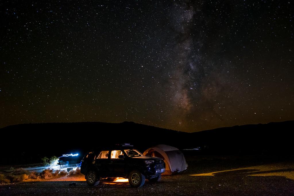 Campsite Under the Milky Way