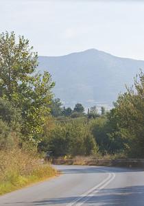 the drive to Ammouliani from Thessaloniki