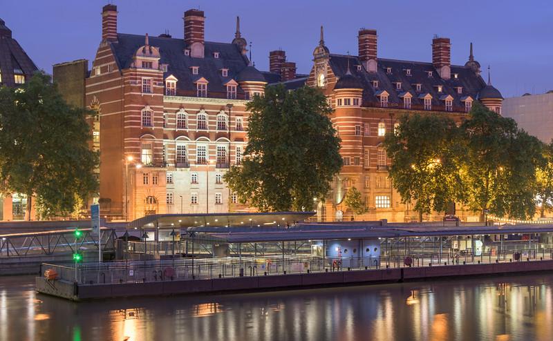 Victorian Buildings Behind Westminster Pier
