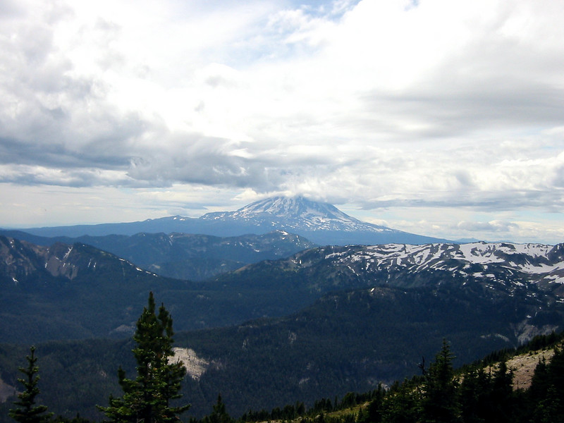 Looking over to Mount Adams