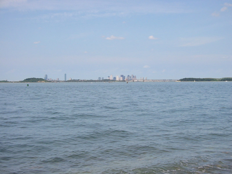 Looking back toward Boston from Peddock's Island