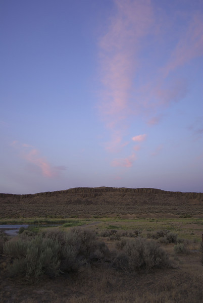 Columbia National Wildlife Refuge at sunset