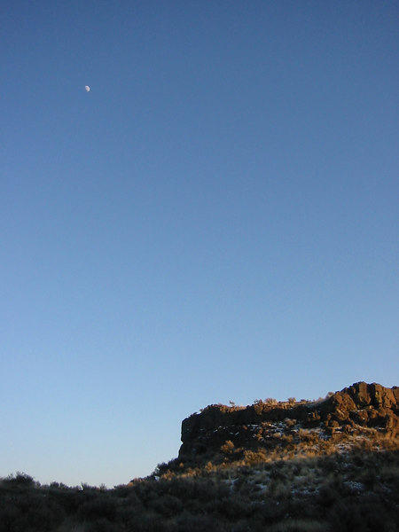 Was going for a Moon shot, but it was a bit high in the sky.