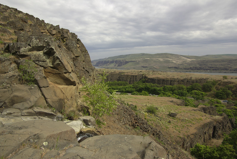 Dalles Mountain trail.  Right at the waterfall.  Nice spot for lunch.