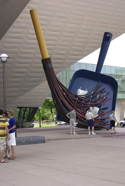 Outside the new wing of the Denver Art Museum