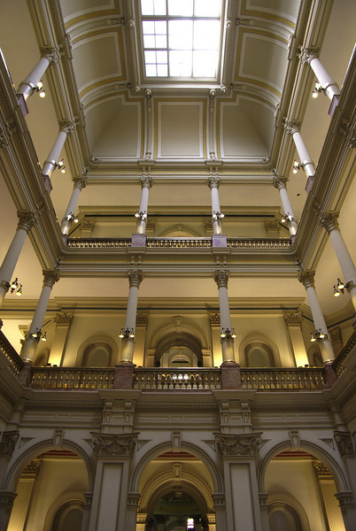 Inside the Colorado state capitol building