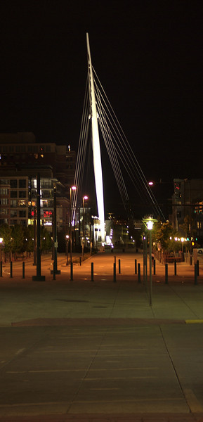 More night photography, here a foot bridge