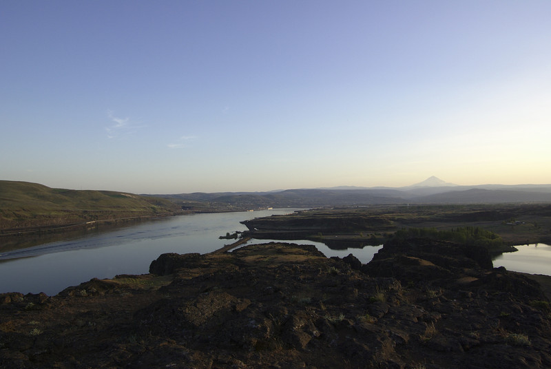 Horsethief Butte.  Mount Hood to the right.