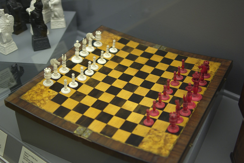 One of the many chess sets on display at Maryhill