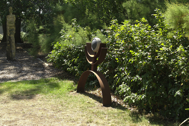 Outside sculpture garden at Maryhill