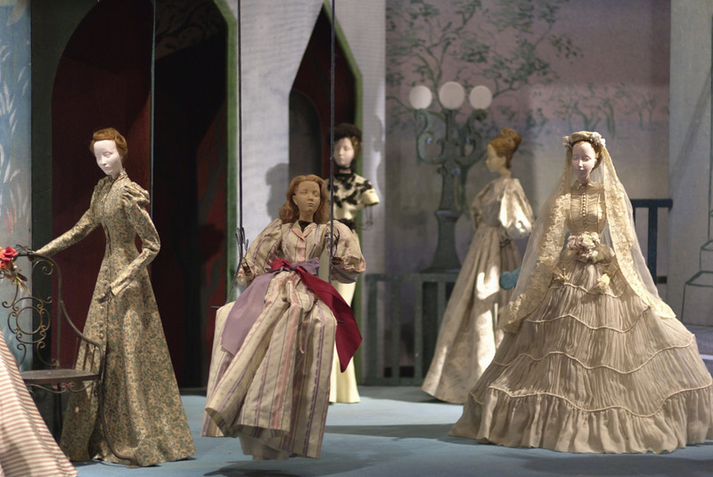 Theater la Mode. Top Parisian designers made clothing for the dolls as they would full size ensembles.
