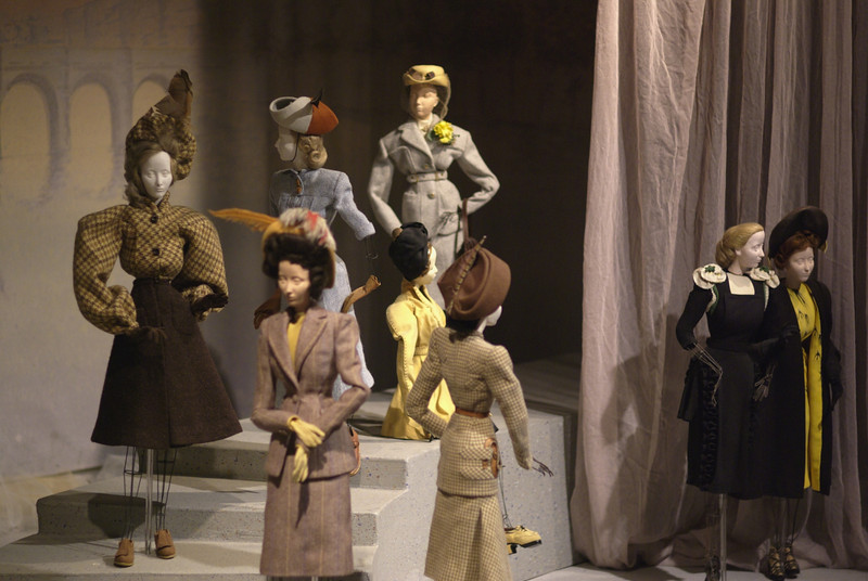 Theater la Mode.  The dolls were each given different personalities and placed in scenes reflective of life in Paris and the fashion they were wearing.