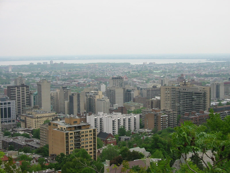 View of Montreal from Mont Real