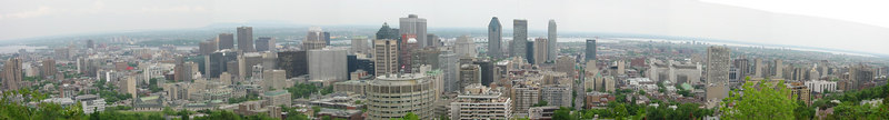 Panorama of downtown Montreal from the Park