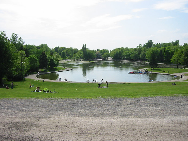 Lake in Mont Real Park