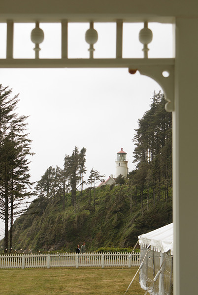 Heceta Lighthouse.  Looking from the lightkeeper's house.