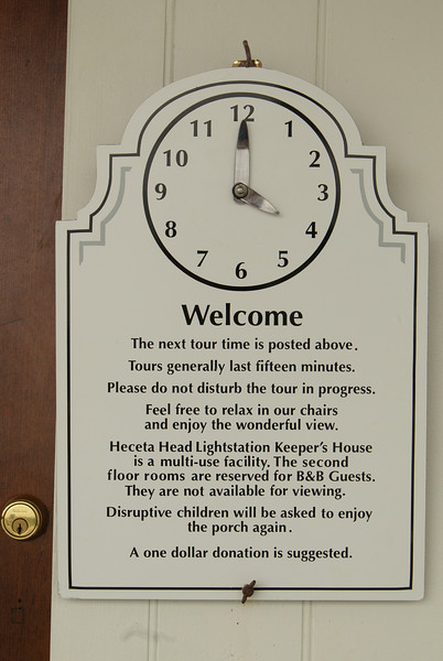 Heceta Lightkeeper's house. Waiting.