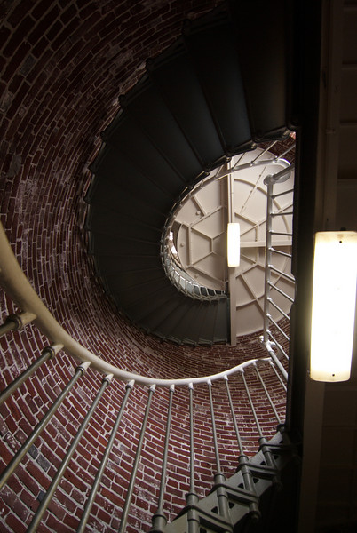 Umpqua Lighthouse.  Stairs up to the light.