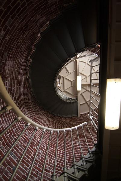 Umpqua Lighthouse.  Stairs up to the light.