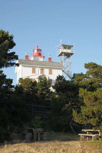 Yaquina Bay lighthouse.  Yaquina, Oregon.