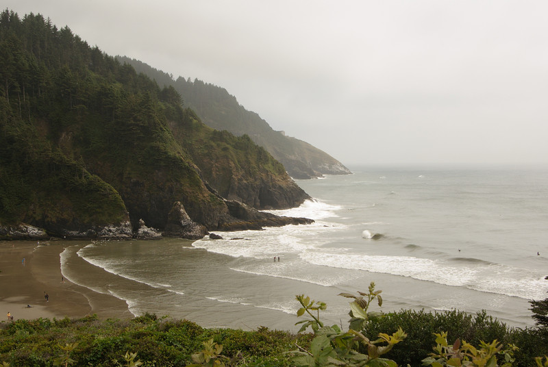 Heceta Head.  View from the lightkeeper's house porch.
