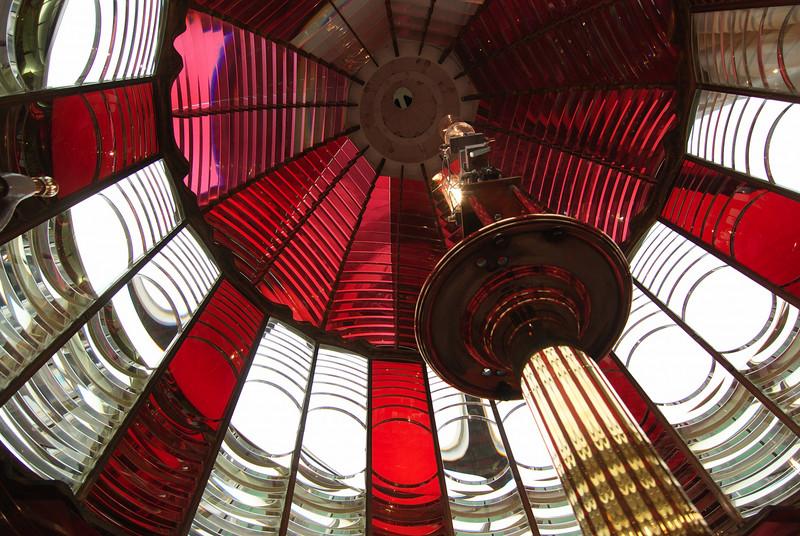 Umpqua Lighthouse.  Inside the lens.