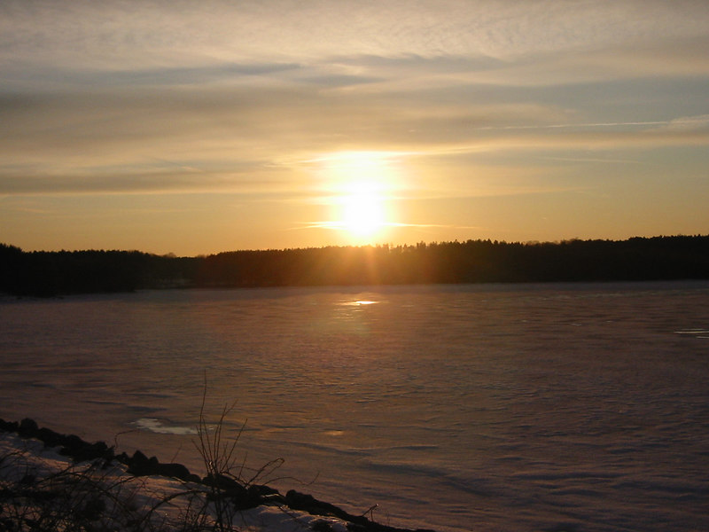 Sunset over Quabbin Lake